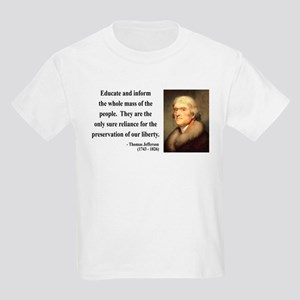 Thomas Jefferson 22 Kids Light T-Shirt