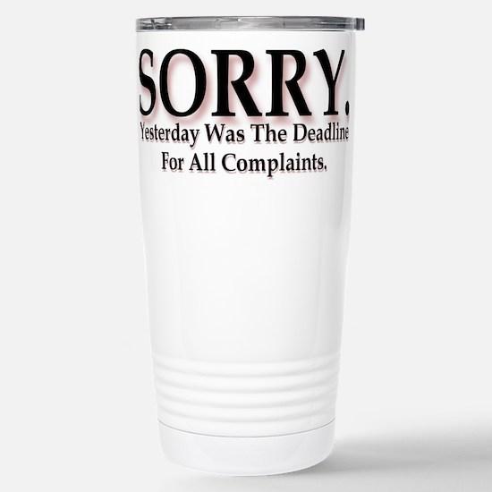 Complaints Stainless Steel Travel Mug