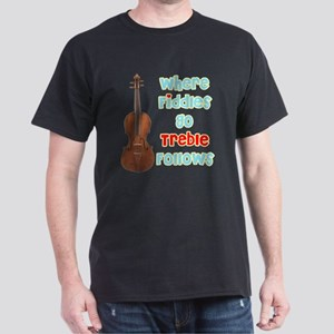 Where Fiddles Go...Treble Fol Dark T-Shirt