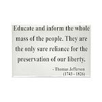 Thomas Jefferson 22 Rectangle Magnet (10 pack)