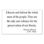 Thomas Jefferson 22 Rectangle Sticker