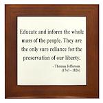 Thomas Jefferson 22 Framed Tile