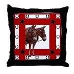 American Mule Team Throw Pillow