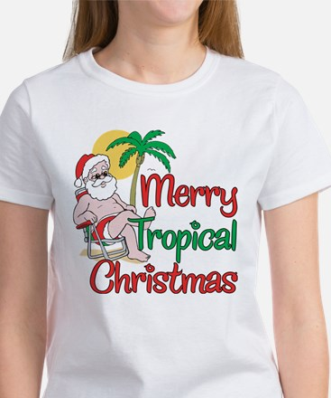 MERRY TROPICAL CHRISTMAS! Women's T-Shirt