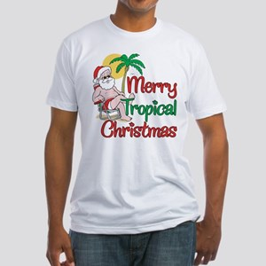 MERRY TROPICAL CHRISTMAS! Fitted T-Shirt