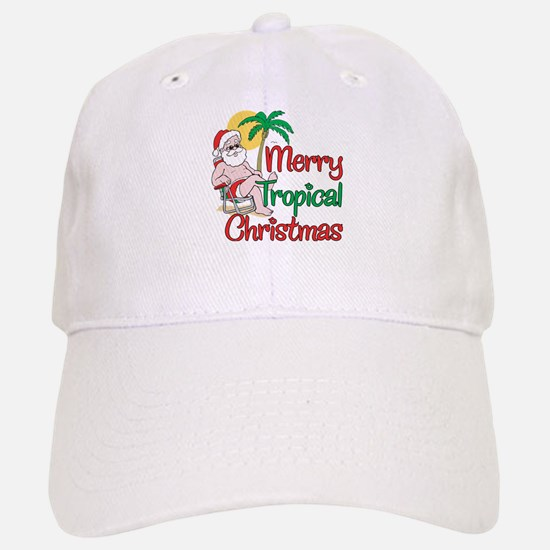 MERRY TROPICAL CHRISTMAS! Baseball Baseball Cap