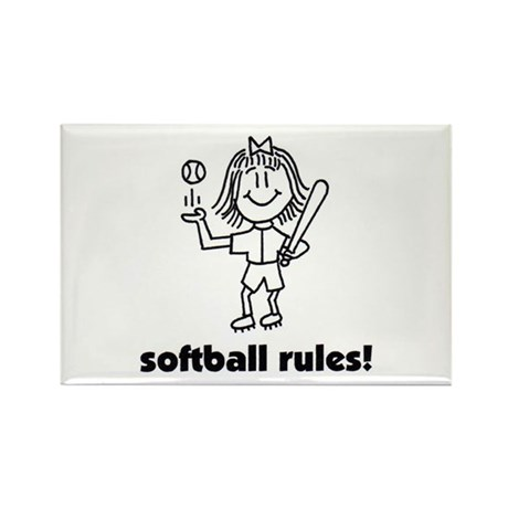 softball rules susie Rectangle Magnet