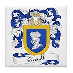Girault Family Crest Tile Coaster