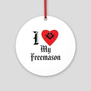 I love my Mason Ornament (Round)