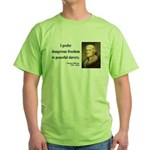 Thomas Jefferson 15 Green T-Shirt