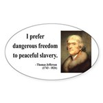 Thomas Jefferson 15 Oval Sticker