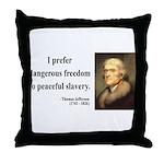 Thomas Jefferson 15 Throw Pillow