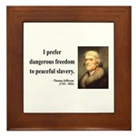 Thomas Jefferson 15 Framed Tile