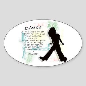 Become A Dancer Oval Sticker