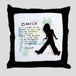 Become A Dancer Throw Pillow