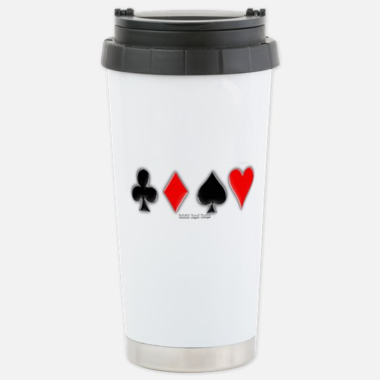 Playing Card Suits Stainless Steel Travel Mug