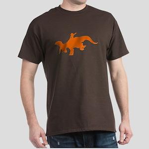 Orange Rodeo Triceratops Dark T-Shirt