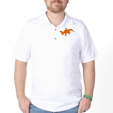 Orange Rodeo Triceratops Golf Shirt