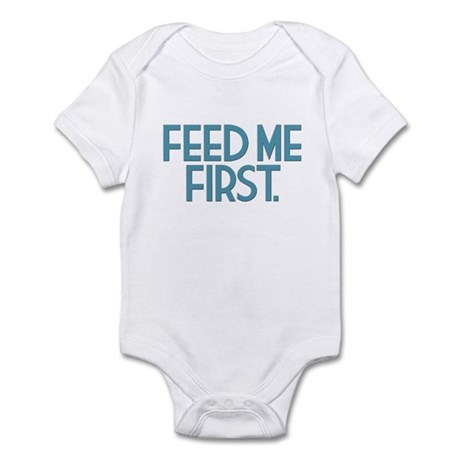"""Feed Me First"" Multiples Infant Bodysuit"