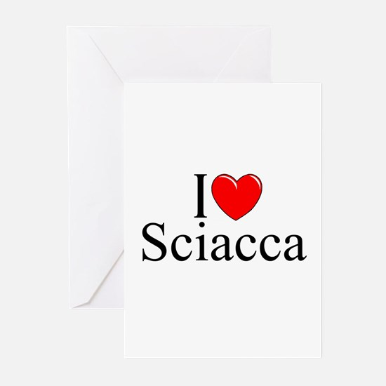 """""""I Love (Heart) Sciacca"""" Greeting Cards (Pk of 10)"""