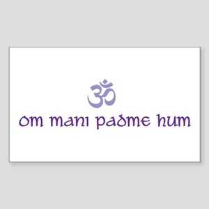 Om mani padme hum Rectangle Sticker