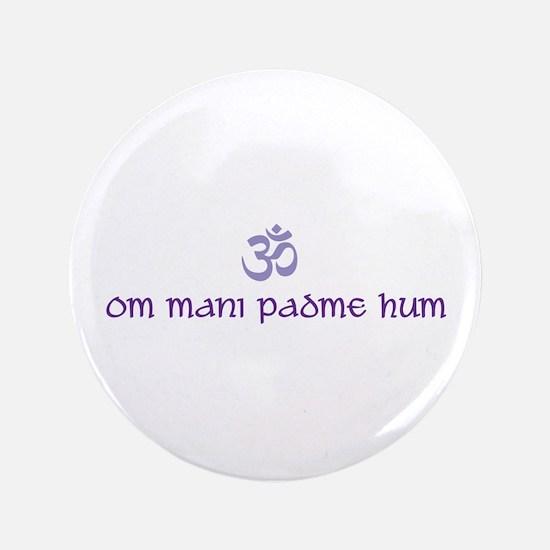 "Om mani padme hum 3.5"" Button"