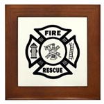 Fire Rescue Framed Tile