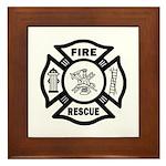 Fire Rescue Framed Tile
