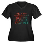 Unsocialized Women's Plus Size V-Neck Dark T-Shirt