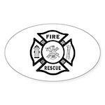 Fire Rescue Sticker (Oval 50 pk)