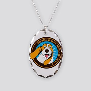 Dog make me happy,People, Not Necklace Oval Charm