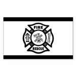 Fire Rescue Sticker (Rectangle 50 pk)