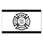 Fire Rescue Sticker (Rectangle 50 pk)