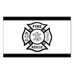 Fire Rescue Sticker (Rectangle 10 pk)