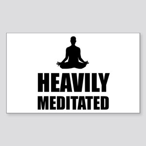 Heavily Meditated Sticker