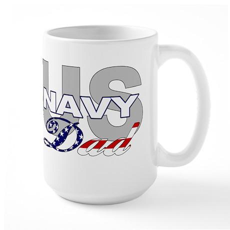 US Navy Dad Large Mug