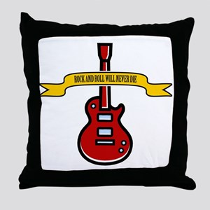 Rock Will Never Die Throw Pillow