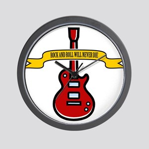 Rock Will Never Die Wall Clock