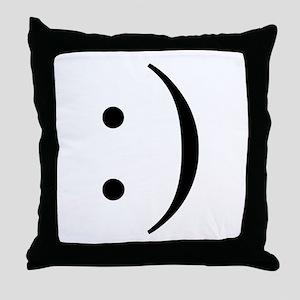 Colon Smiley Throw Pillow