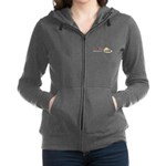 I Love Rhubarb Women's Zip Hoodie