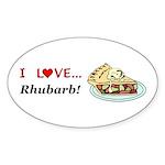 I Love Rhubarb Sticker (Oval 50 pk)