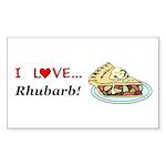 I Love Rhubarb Sticker (Rectangle 10 pk)