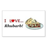 I Love Rhubarb Sticker (Rectangle 10 pk)