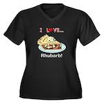 I Love Rhuba Women's Plus Size V-Neck Dark T-Shirt