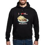 I Love Rhubarb Hoodie (dark)