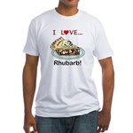 I Love Rhubarb Fitted T-Shirt