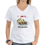 I Love Rhubarb Women's V-Neck T-Shirt