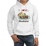 I Love Rhubarb Hooded Sweatshirt