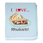 I Love Rhubarb baby blanket