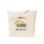 I Love Rhubarb Tote Bag